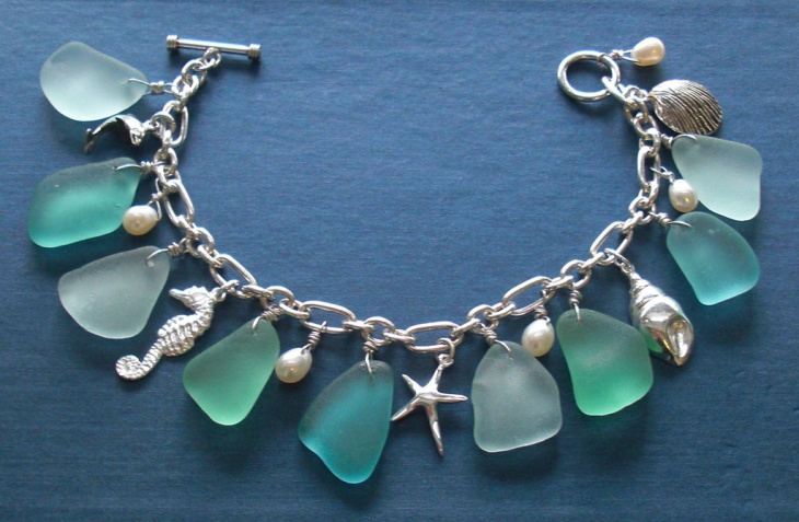 unique sea glass jewelry design