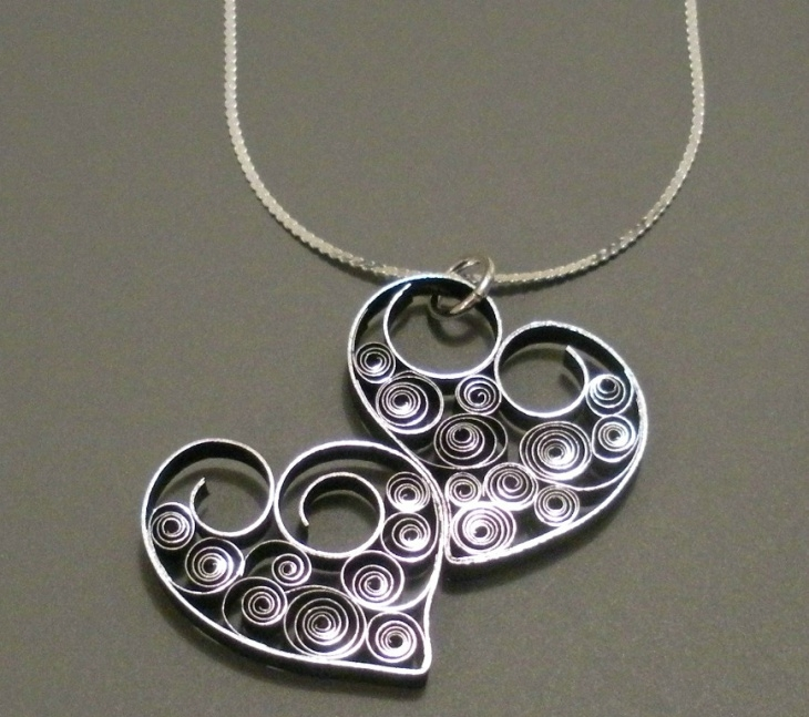 paper quilling jewelry design1
