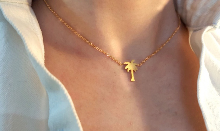 gold tropical jewelry design