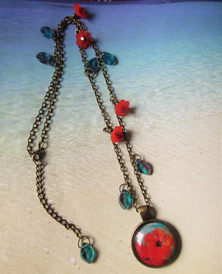 tropical flower jewelry