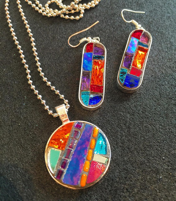 firefly mosaic jewelry design