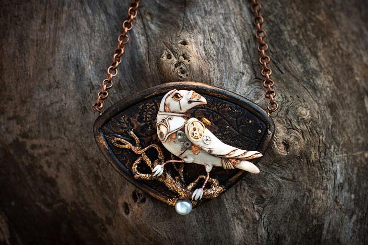 handmade steampunk jewelry design