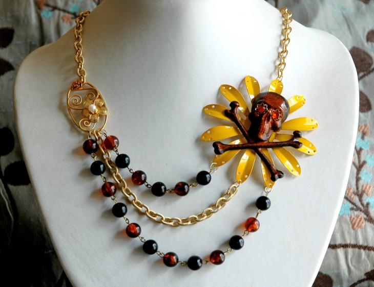 rhinestone skull jewelry design