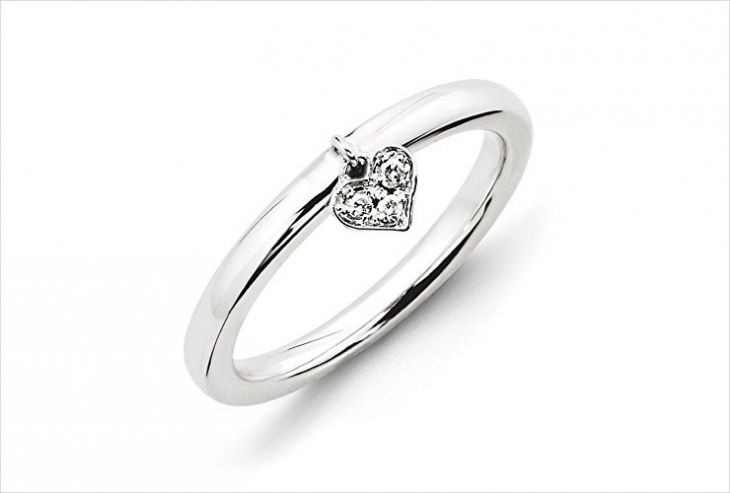 Diamond Dangle Ring