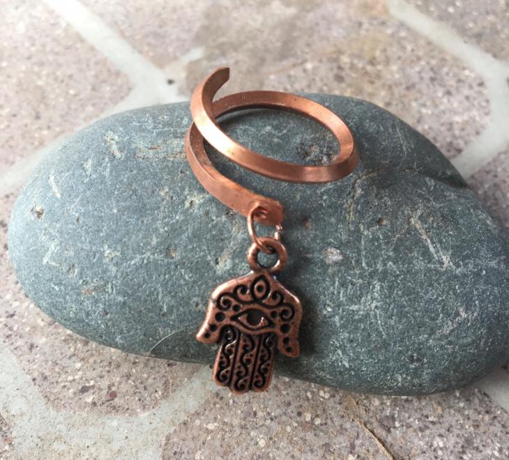 copper dangle ring