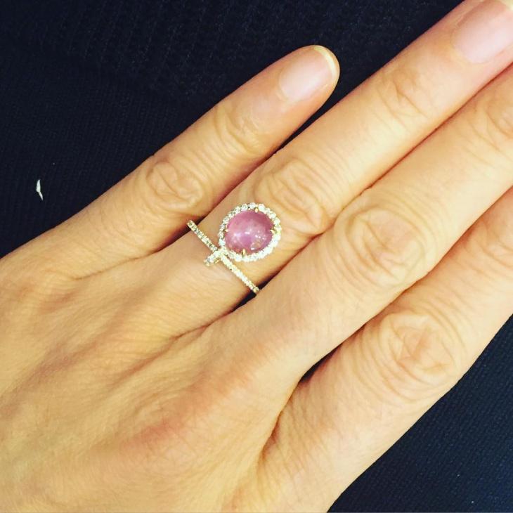 beautiful ruby dangle ring