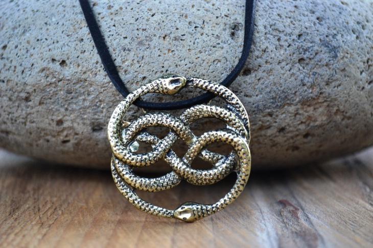 aztec snake pendant design