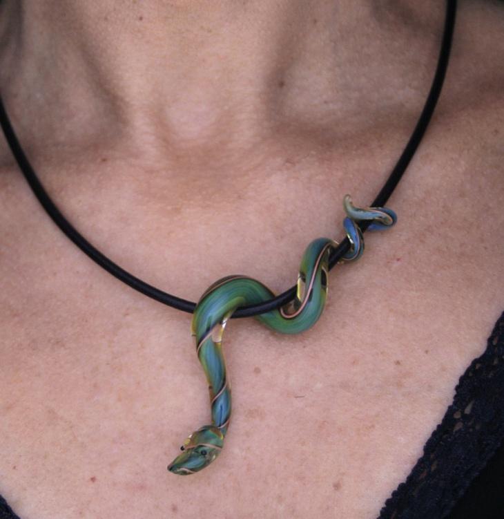 Glass Snake Pendant
