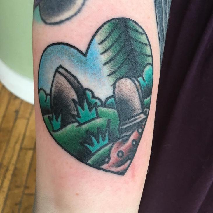 traditional graveyard tattoo