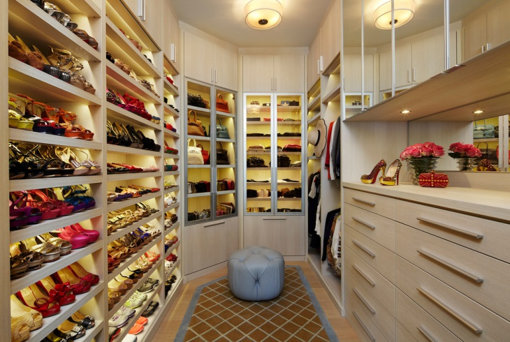 contemporary closet lighting design