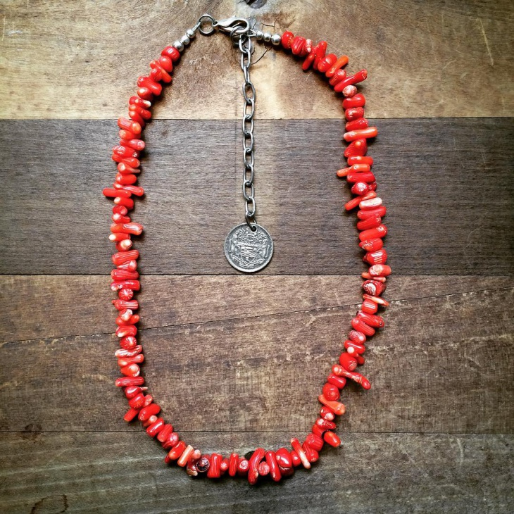 bamboo red coral jewelry