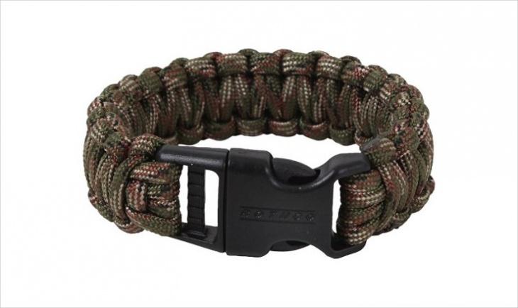 camo paracord bracelet design