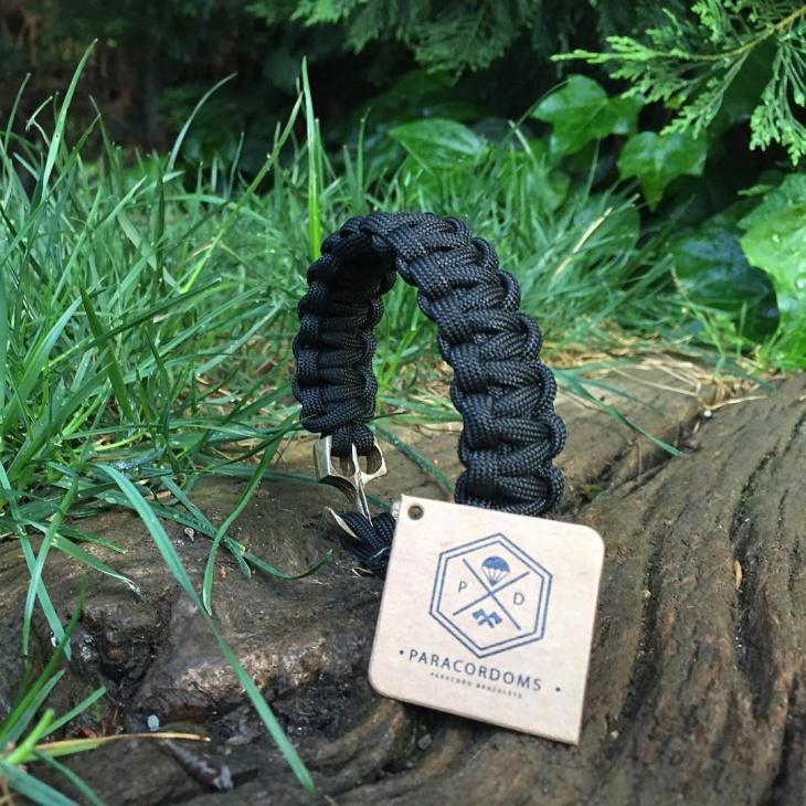 classy black paracord bracelet