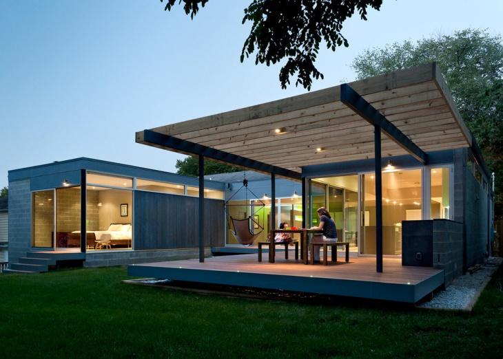 modern covered deck design