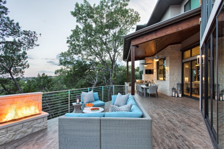 oak covered deck design