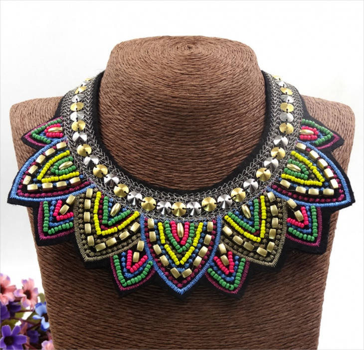 tribal fabric jewelry