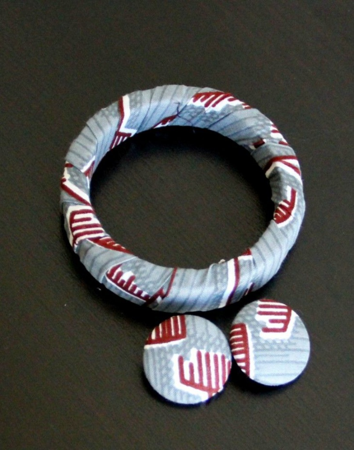 fabric covered jewelry
