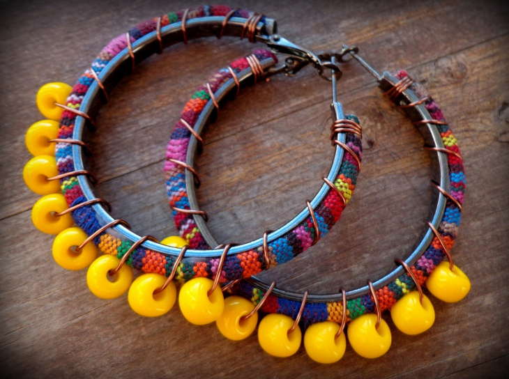 ethnic fabric jewelry