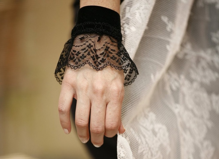 Lace Cuff Fabric Bracelet