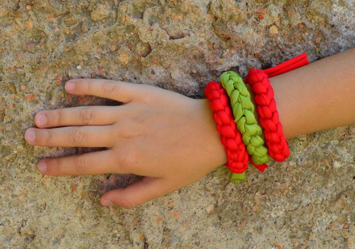 Fabric Bracelet Jewelry