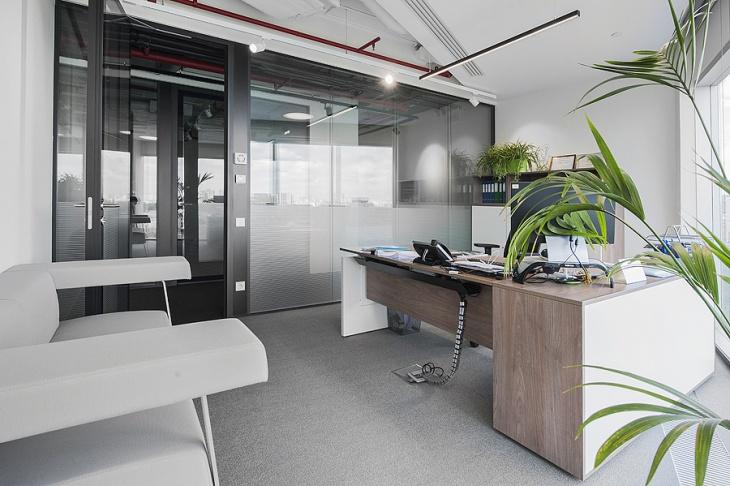 rustic oak corner office desk