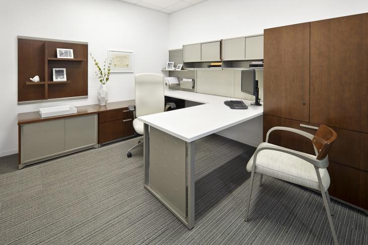 corner office desk furnished idea