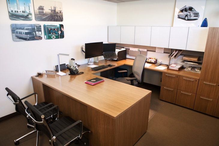 u shaped corner office desk