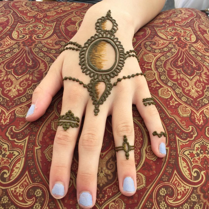 arabic henna jewelry tattoo