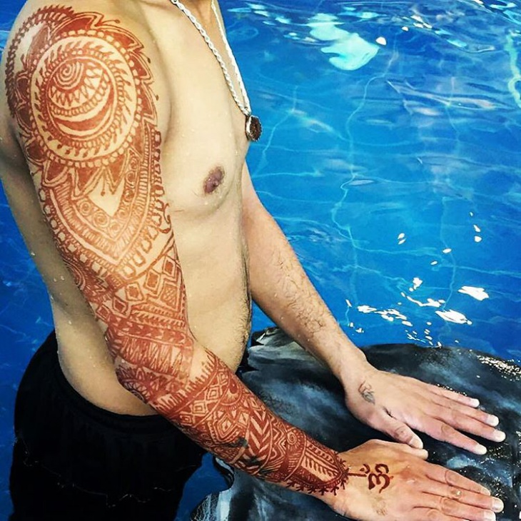 henna sleeve tattoo for men