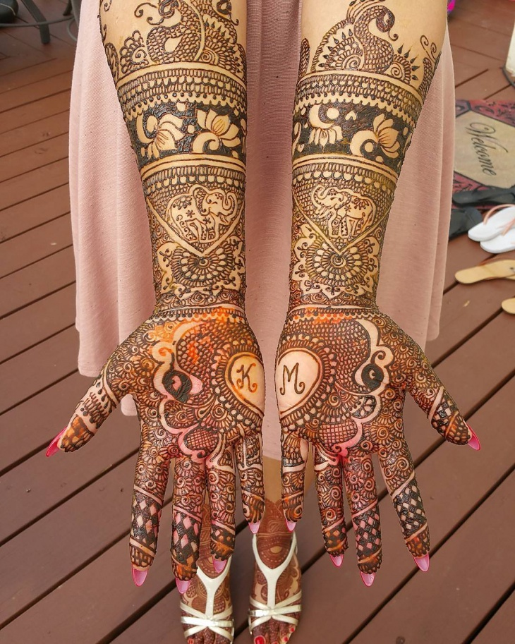 wedding henna tattoo for bride