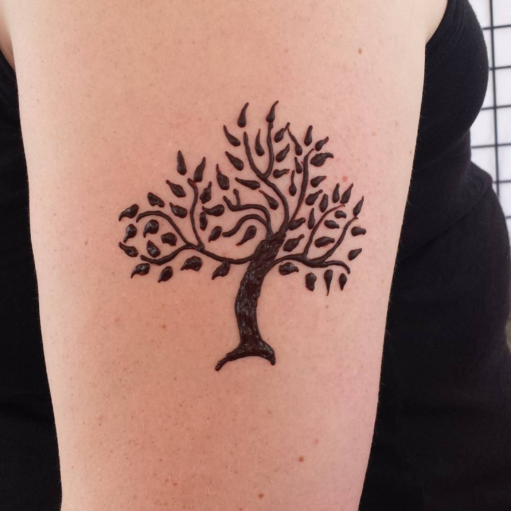henna tree of life tattoo design