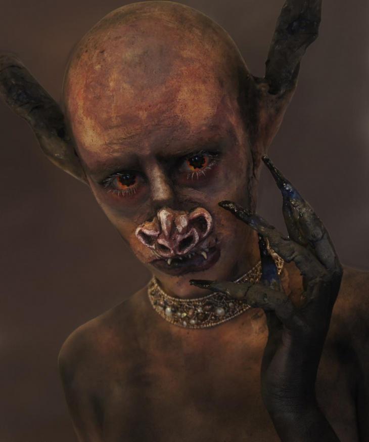 Realistic Bat Makeup Idea