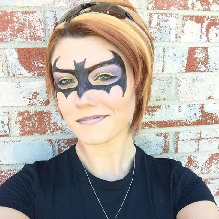 Woman Bat Makeup Design