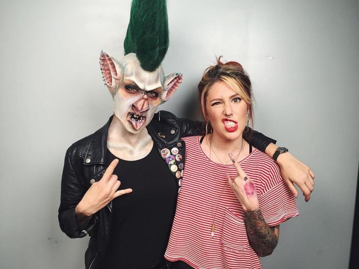 Scary Bat Makeup Idea
