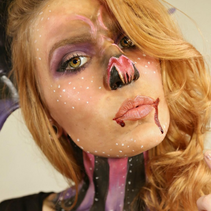 Fairy Bat Makeup Idea