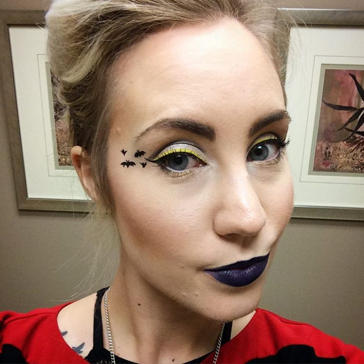 yellow and Black Bat Eye Makeover