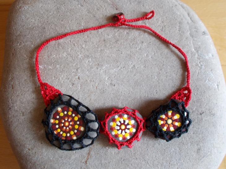crochet mandala necklace