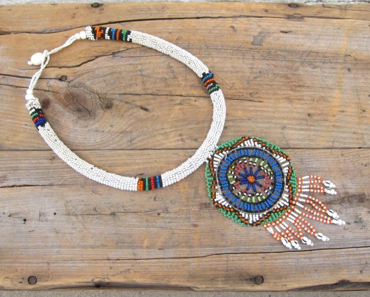 mandala choker necklace