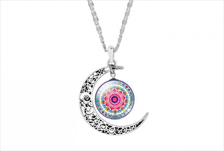 Mandala Glass Necklace