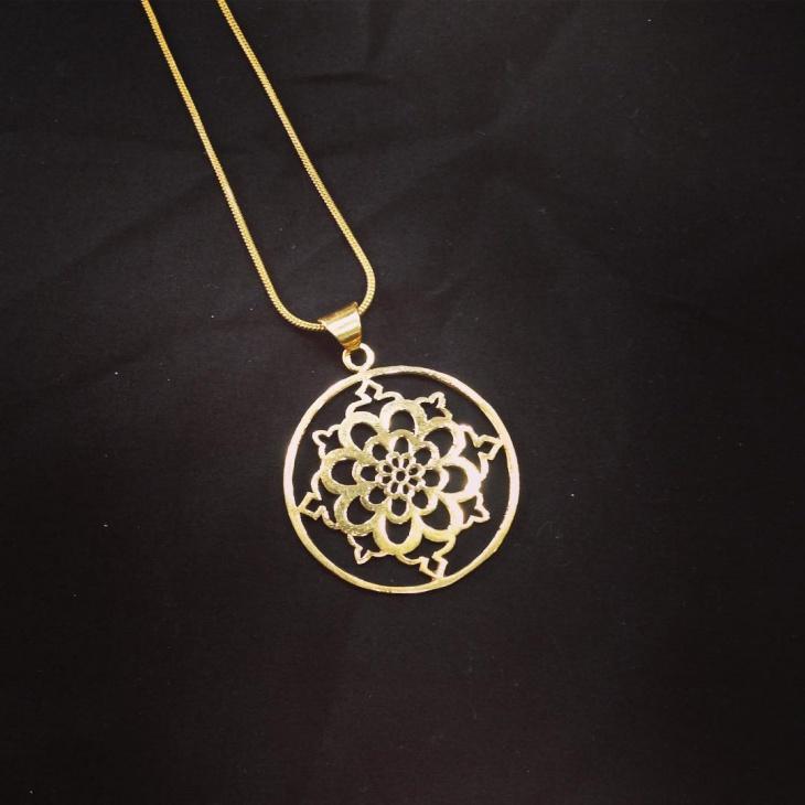 geometric mandala necklace