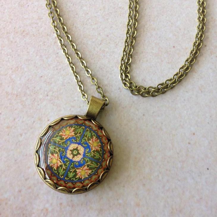 Hippie Style Mandala Necklace