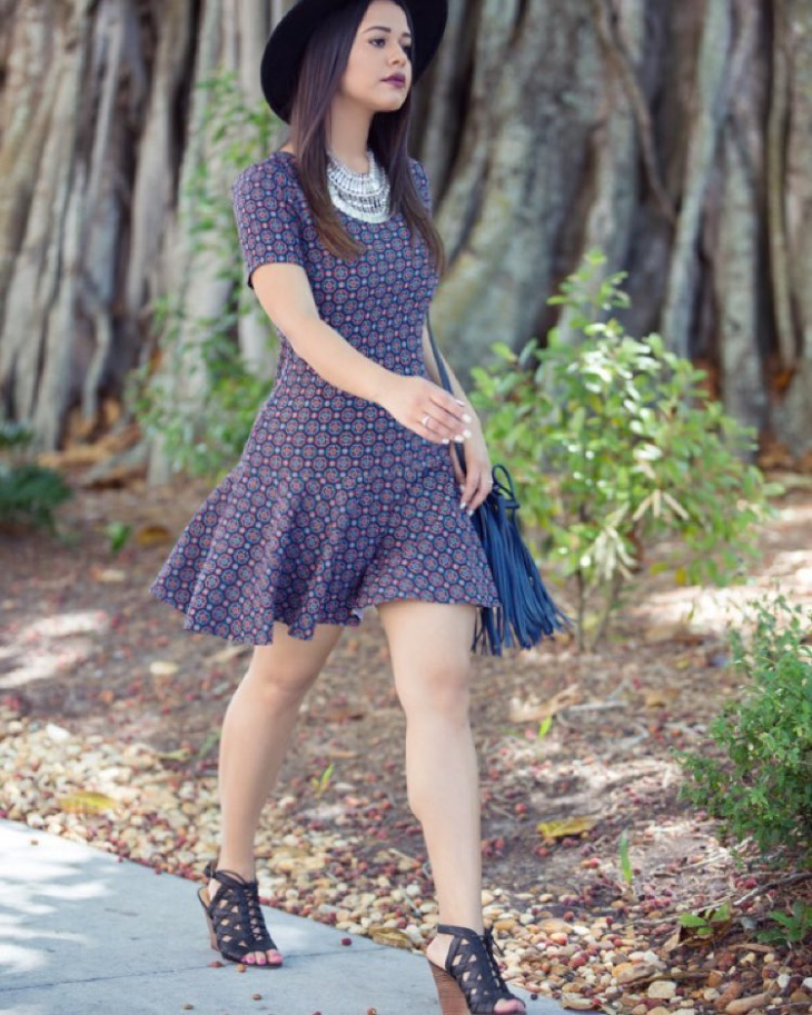 modern flutter sleeve dress