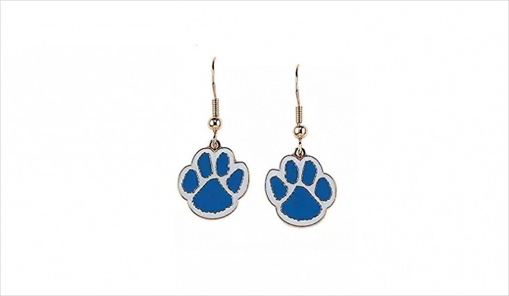 blue paw print earrings