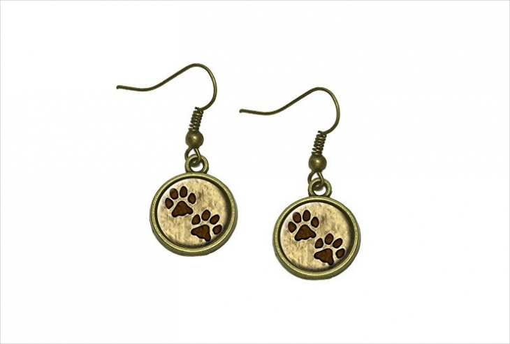 grungy paw print earrings