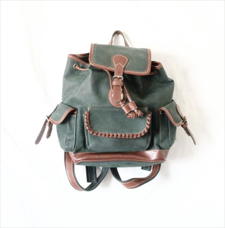 green rugged backpack
