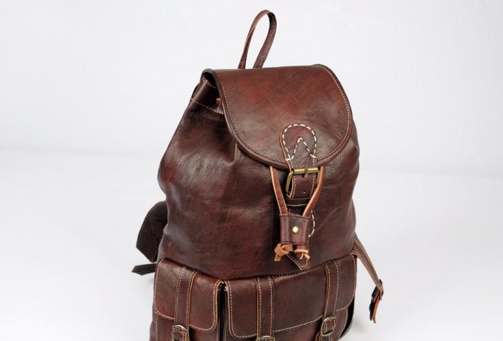 handmade rugged backpack