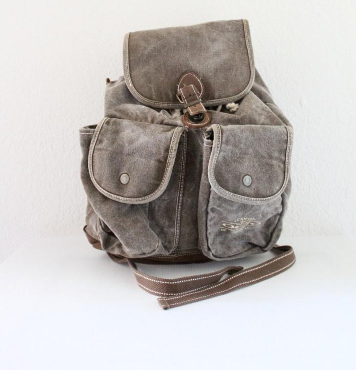 denim rugged backpack