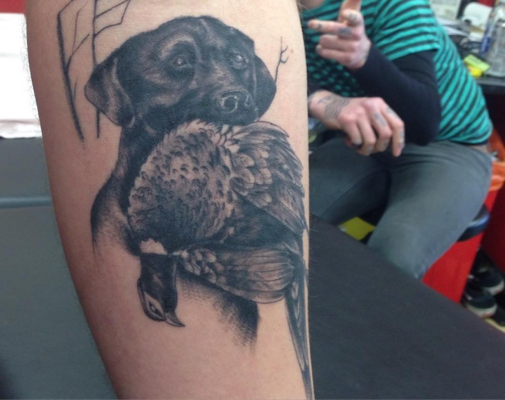 Black Hunting Tattoo Design
