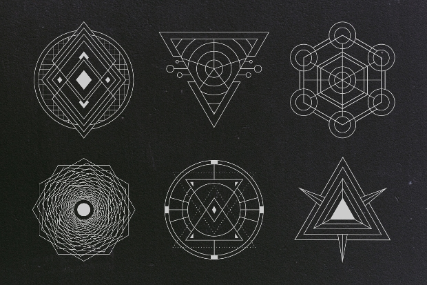 Sacred Geometric Vector Set