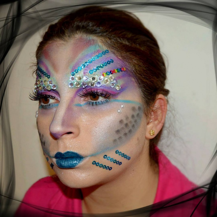 rainbow fish makeup
